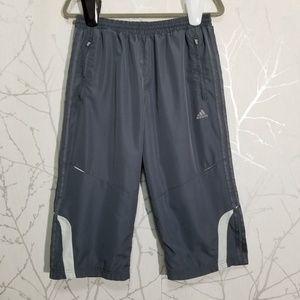 Adidas Clima365 Gray Vented Capri Athletic Pants
